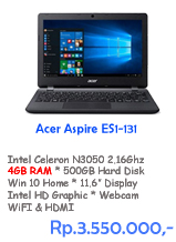 Notebook Acer Aspire ES1-131