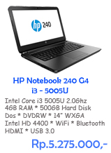 HP Notebook 240 G4 i3-5005U (14