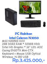 PC Rakitan Intel Celeron N3050